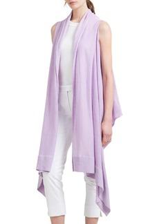 DKNY Long Linen Open Cardigan