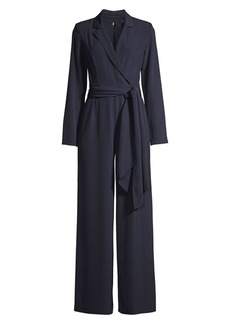 DKNY Long-Sleeve Belted Jumpsuit