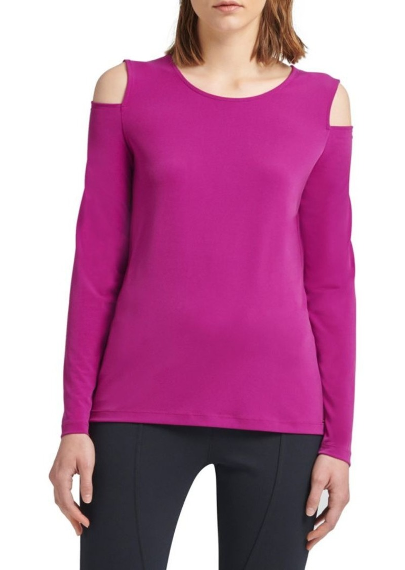DKNY Long-Sleeve Cold-Shoulder Top
