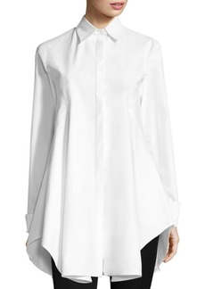 DKNY Long-Sleeve Collared Button-Down Shirt