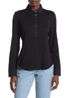 DKNY Long Sleeve Collared Top