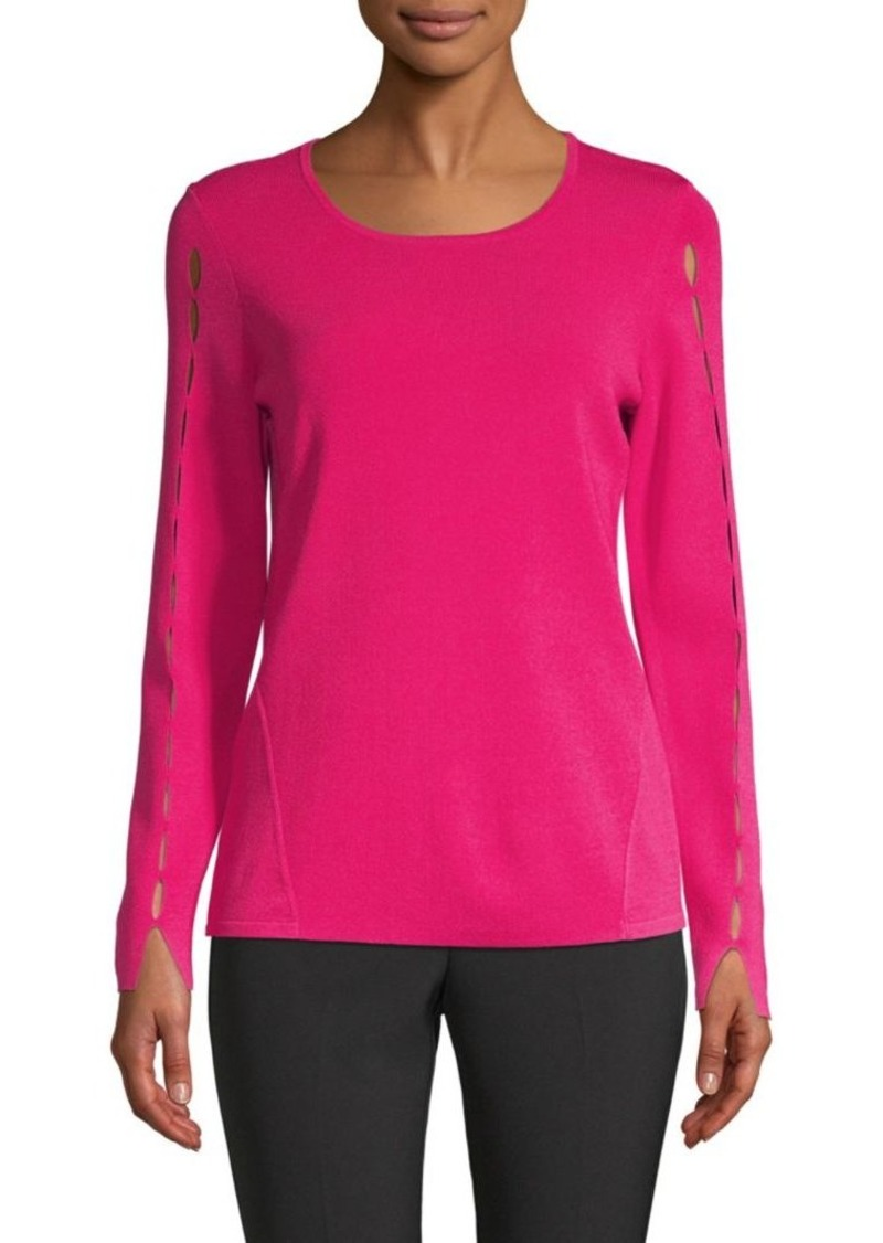 DKNY Long-Sleeve Cut Out Sleeve Top