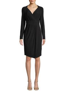 DKNY Long-Sleeve Faux-Wrap Dress