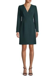 DKNY Long Sleeve Faux Wrap Dress