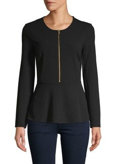 DKNY Long-Sleeve Peplum Top