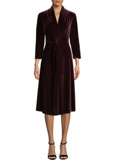 DKNY Long-Sleeve Velvet Dress