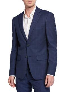 DKNY Men's Slim-Fit Micro Check Wool Suit