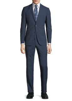 DKNY Men's Slim-Fit Windowpane Wool Two-Piece Suit