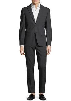 DKNY Men's Windowpane Wool Two-Piece Suit