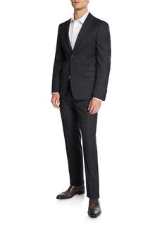 DKNY Men's Wool Two-Piece Plaid Suit