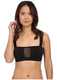 DKNY Mesh Effect Mesh Splice Bikini Top