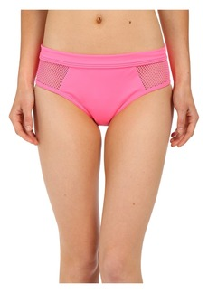 DKNY Mesh Effect Mesh Splice Hipster Bikini Bottom
