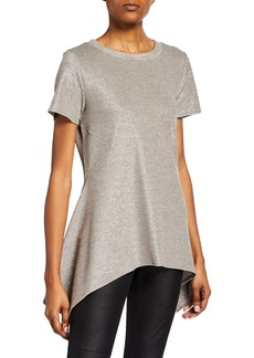 DKNY Metallic High-Low Tunic Top