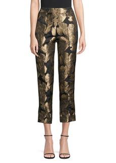 DKNY Metallic Jacquard Skinny Pants