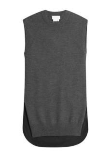 DKNY Mixed-Media Knit Shell