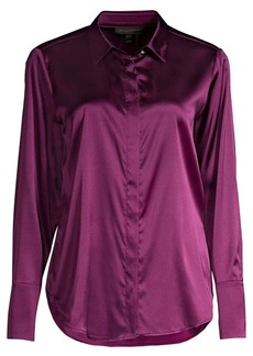 DKNY Mulberry Silk Blend Blouse