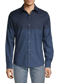 DKNY Natural Stretch-Fit Gingham Shirt