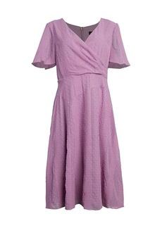 DKNY Novelty Georgette Flutter A-Line Dress