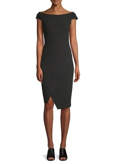 DKNY Off-The-Shoulder Sheath Dress
