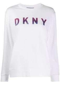 DKNY ombre glitter logo sweatshirt