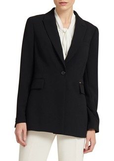 DKNY One-Button Long Jacket