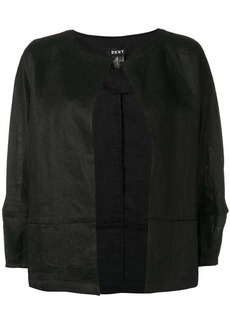 DKNY open cropped sleeve jacket