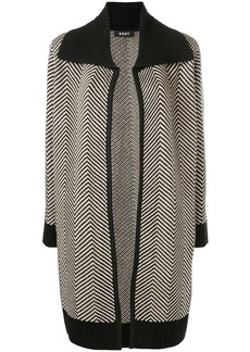 DKNY open front cardi-coat
