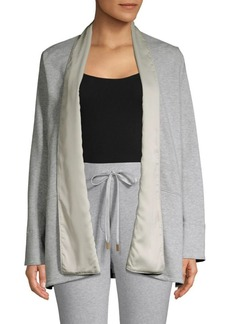 DKNY Open Front French Terry Jacket