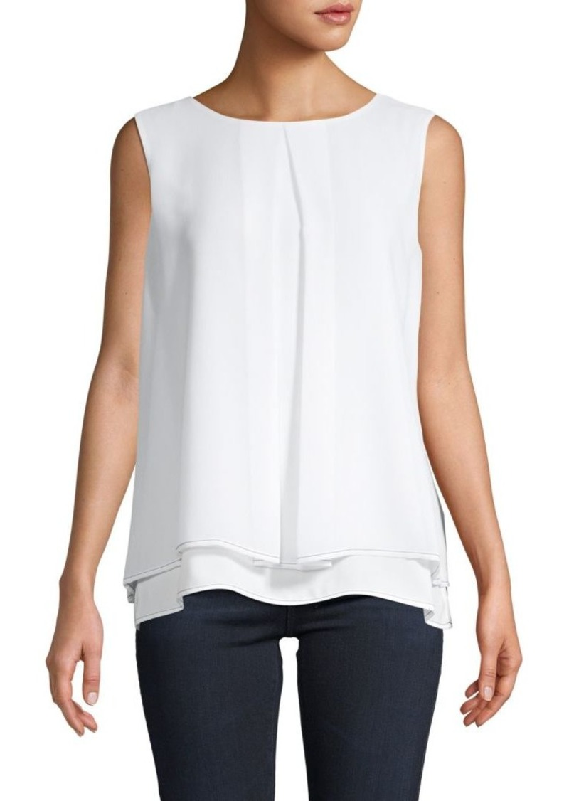 DKNY Overlay Sleeveless Top