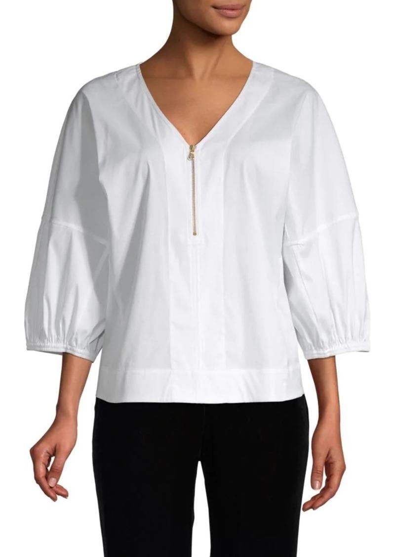 DKNY Oversized Three-Quarter Sleeve Top