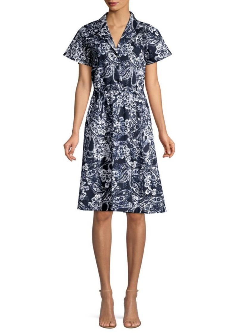 DKNY Paisley Floral Shirtdress