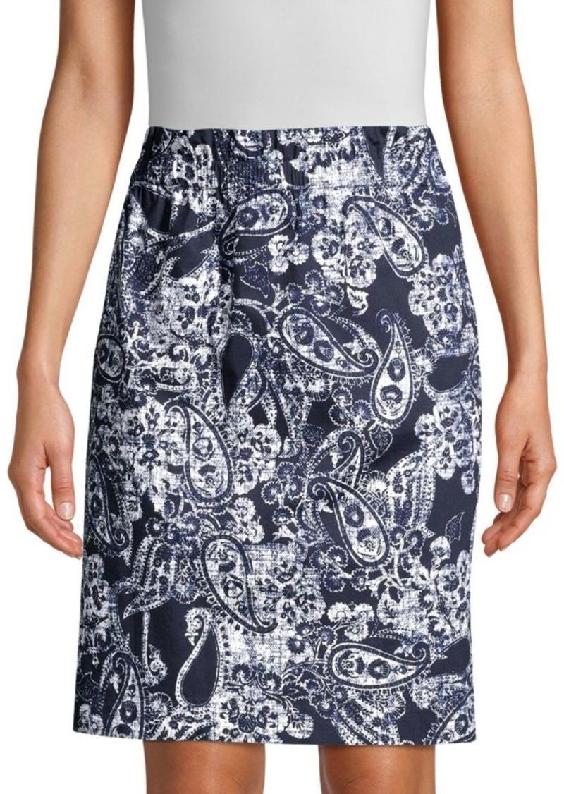 DKNY Paisley Print Pencil Skirt