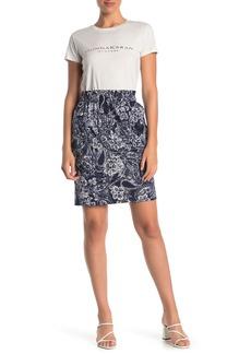 DKNY Paisley Print Pull-On Skirt