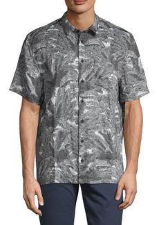 DKNY Palm Tree-Print Linen Shirt