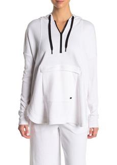DKNY Partial Zip Oversized Hoodie Sweater