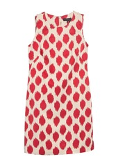 DKNY Patterned Faille Shift Dress