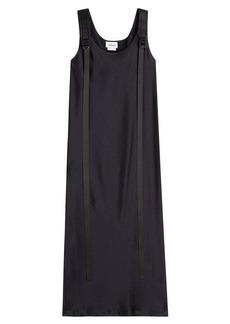 DKNY Pinstriped Midi Dress