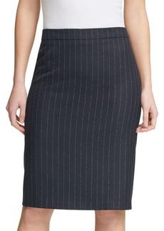 DKNY Pinstriped Pencil Skirt