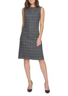 DKNY Plaid Sheath Dress