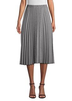 DKNY Pleated A-Line Skirt