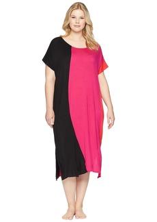 DKNY Plus Size Color Block Caftan