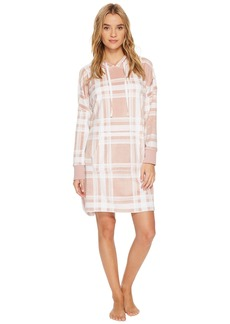 DKNY Plush Hooded Sleepshirt