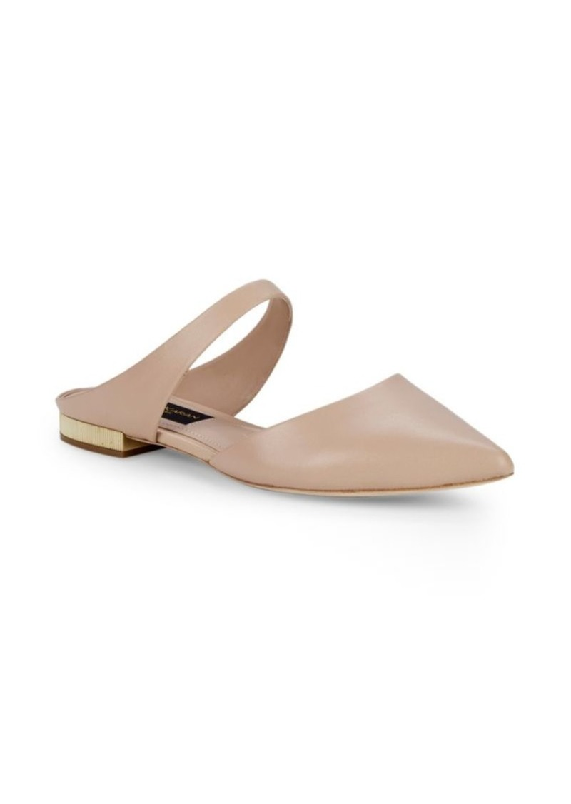DKNY Point-Toe Leather Mules