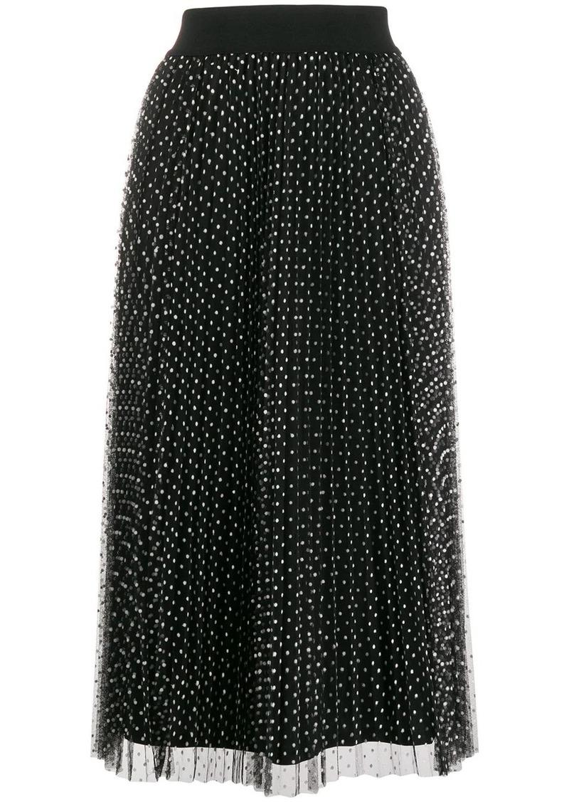 DKNY polka-dot pleated skirt