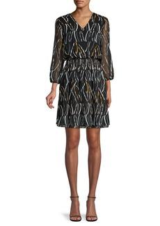 DKNY Printed Blouson Dress