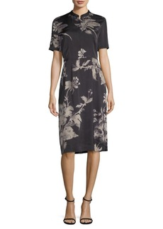DKNY Printed Knee-Length Dress