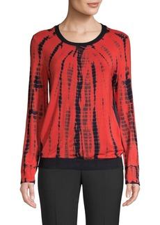 DKNY Printed Long-Sleeve Top