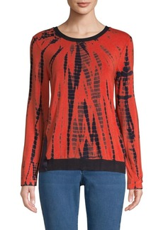DKNY Printed Long-Sleeve Top
