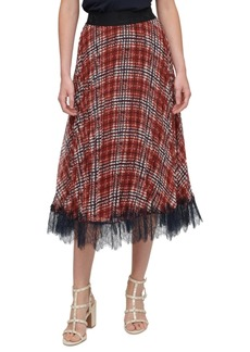 DKNY Printed Pull On Pleated