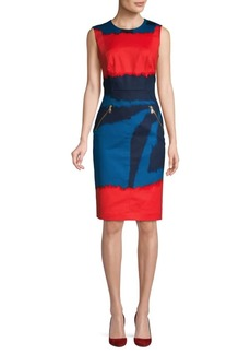 DKNY Printed Sheath Dress